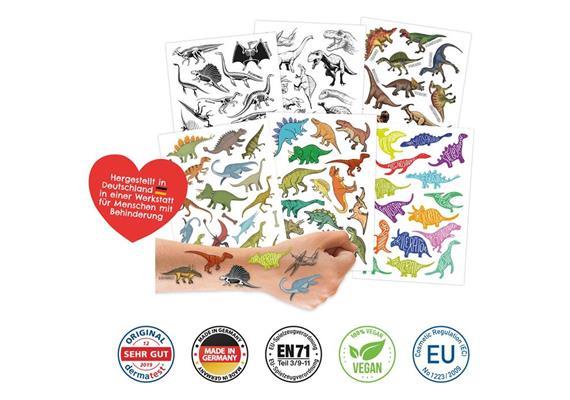 100 Kindertattoos zum Aufkleben – Dinosaurier