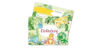 12 Einladungskarten zum Geburtstag – Dinos