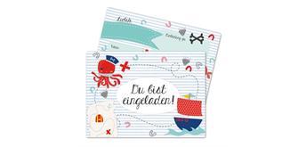 12 Einladungskarten zum Geburtstag – Pirat