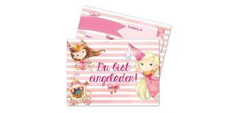 12 Einladungskarten zum Geburtstag – Prinzessin