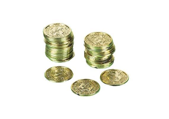 72 Goldmünzen Pirat in Beutel