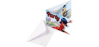 8 Einladungskarten Miracoulous inkl. Umschläge