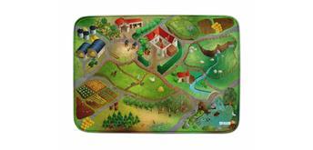 Achoka - Spielteppich Bauernhof 100 x 150 cm rutschfest