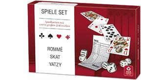 Altenburger Spielset Rommé, Skat, Yatzy Senioren-Ediition