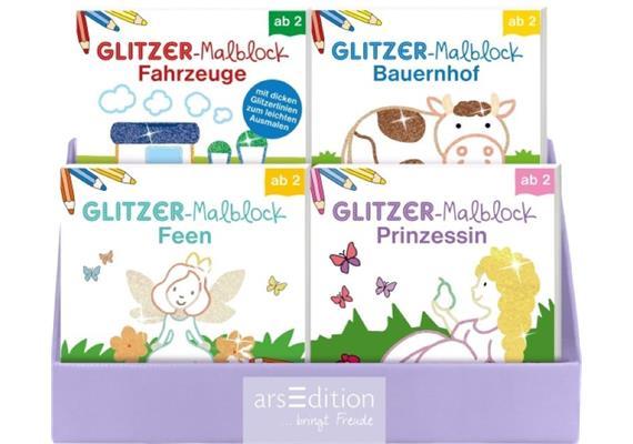 Ars Edition GmbH Glitzermalblöcke, assortiert