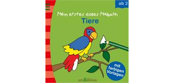 Ars Edition Mein erstes dickes Malbuch: Tiere