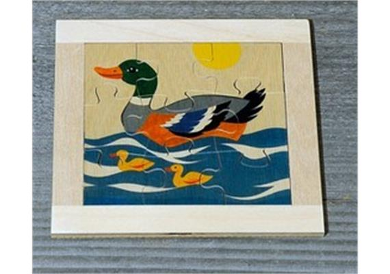 Atelier Fischer 6010 Puzzle Haustiere 9-teilig - Ente