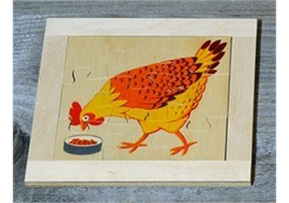 Atelier Fischer 6010 Puzzle Haustiere 9-teilig - Huhn