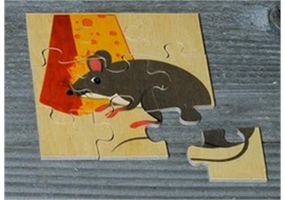 Atelier Fischer 6010 Puzzle Haustiere 9-teilig - Maus