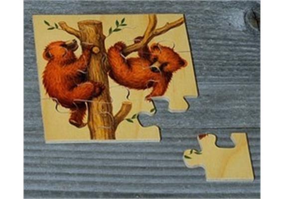 Atelier Fischer 6011 Puzzle Bären 9-teilig - 2 Bären auf dem Baum