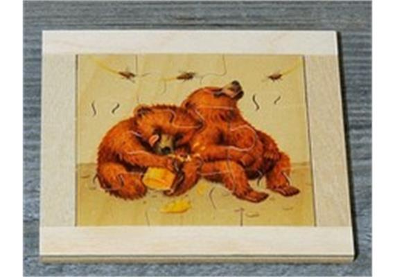Atelier Fischer 6011 Puzzle Bären 9-teilig - 2 Bären mit Honigglas