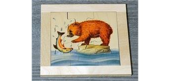 Atelier Fischer 6011 Puzzle Bären 9-teilig - Bär mit Fisch