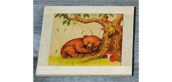 Atelier Fischer 6011 Puzzle Bären 9-teilig - Bär schlafend