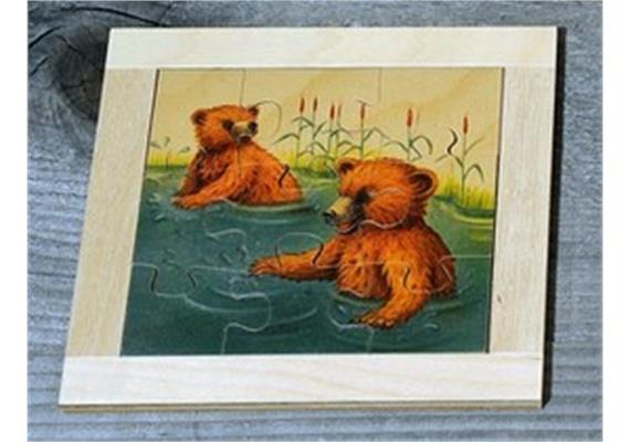 Atelier Fischer 6011 Puzzle Bären 9-teilig - Bären im Wasser