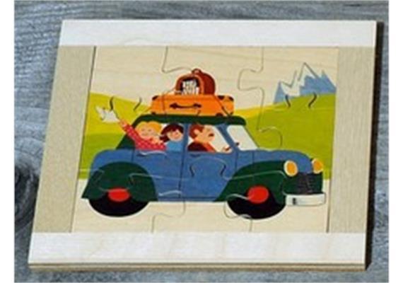 Atelier Fischer 6012 Puzzle Fahrzeuge 9-teilig Auto