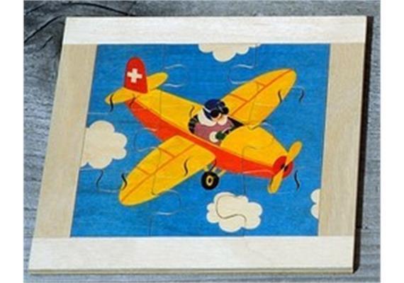 Atelier Fischer 6012 Puzzle Fahrzeuge 9-teilig Flugzeug