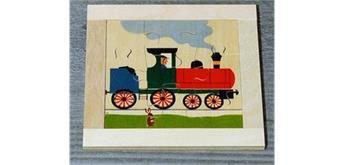 Atelier Fischer 6012 Puzzle Fahrzeuge 9-teilig Lokomotive