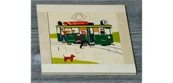 Atelier Fischer 6012 Puzzle Fahrzeuge 9-teilig Tram