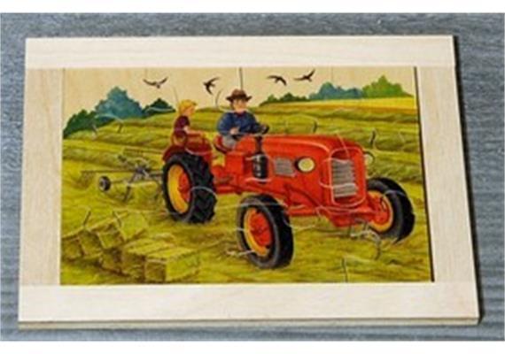 Atelier Fischer 6021 Puzzle Bauernhof 12-teilig Traktor