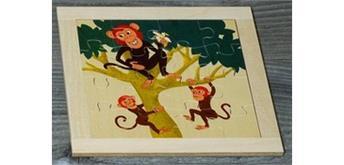 Atelier Fischer 6030 Puzzle Wildtiere 16-teilig- Affen