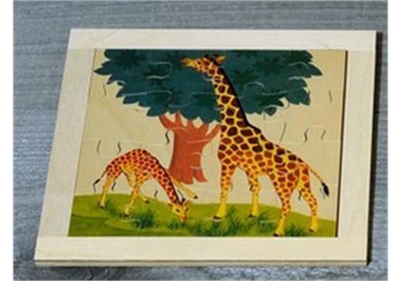 Atelier Fischer 6030 Puzzle Wildtiere 16-teilig- Giraffe