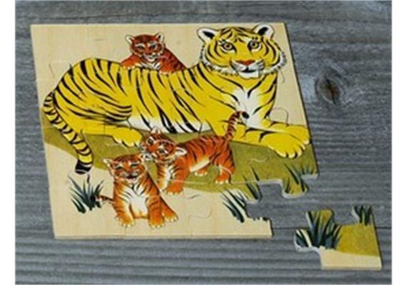 Atelier Fischer 6030 Puzzle Wildtiere 16-teilig- Tiger