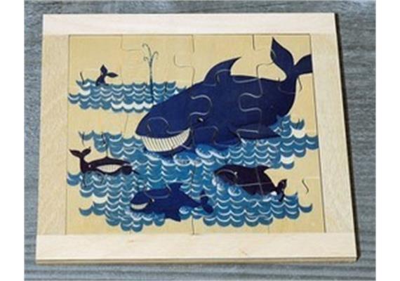 Atelier Fischer 6030 Puzzle Wildtiere 16-teilig- Wal