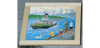 Atelier Fischer 6031 Puzzle Swiss 16-teilig - Schiff
