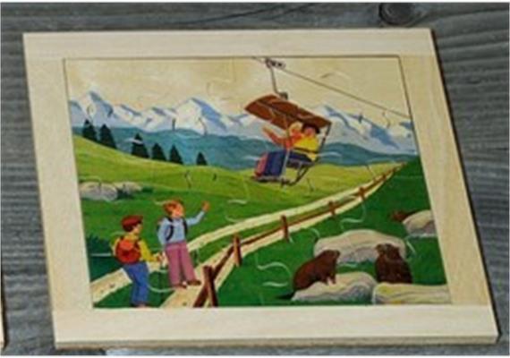 Atelier Fischer 6031 Puzzle Swiss 16-teilig - Sessellift