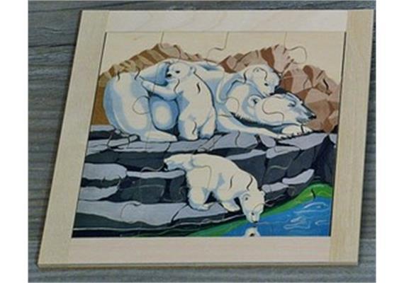 Atelier Fischer 6032 Puzzle Zoo - Eisbären