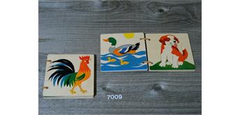 Atelier Fischer 7009 Holzbilderbuch Haustiere gross