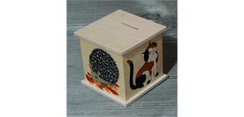 Atelier Fischer 9001 Spardose Tiere 2 mit Katze