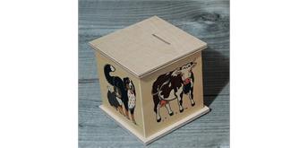 Atelier Fischer 9003 Spardose Bauernhoftiere 2 mit Kuh