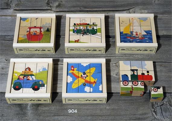 Atelier Fischer 904 Klötzlipuzzle 9-teilig, Verkehrsfahrzeuge