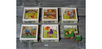 Atelier Fischer 908 Klötzlipuzzle 9-teilig, Heidi