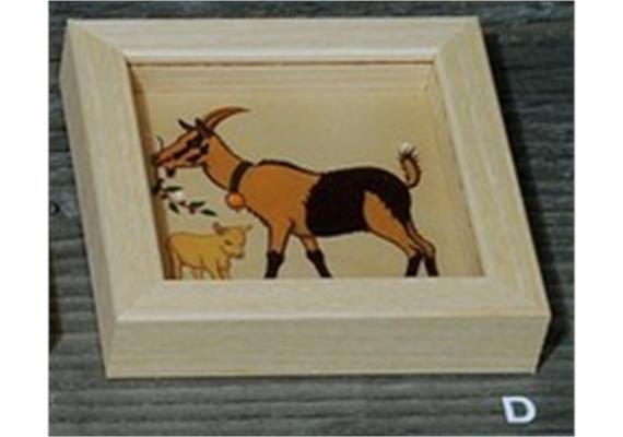 Atelier Fischer 9105D Geduldspiel Bauernhoftiere Ziege
