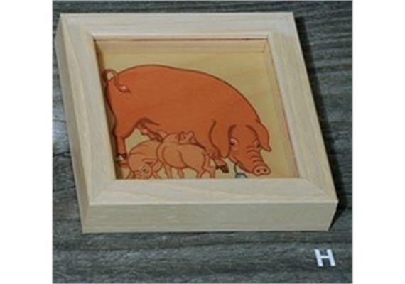 Atelier Fischer 9105H Geduldspiel Bauernhoftiere Schweine
