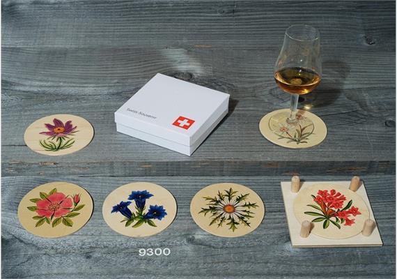 Atelier Fischer 9300 Untersetzer Alpenblumen