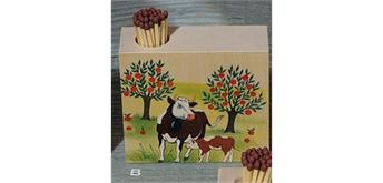 Atelier Fischer 9322B Zündholzhalter Kühe, 2 Kühe Baum