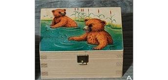 Atelier Fischer 9401A Musikdose Bären Wasser