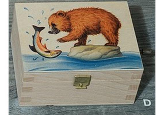 Atelier Fischer 9401D Musikdose Bären fischen