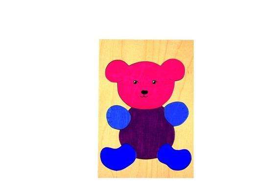 Atelier Passage 122-00 Puzzle Teddybär farbig