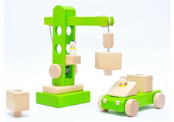Atelier Passage 212-04 Kran Mobil Set grün