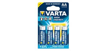 Batterie AA, Micro 4er Varta High Energy