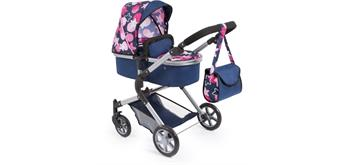 BAYER Puppenwagen City Neo blau mit rosa