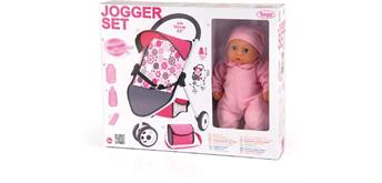 BAYER Set Puppen-Jogging Buggy mit Puppe