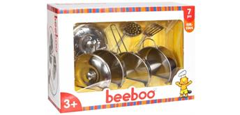 Beeboo Kitchen Spiel-Edelstahltopf-Set, 7-teilig
