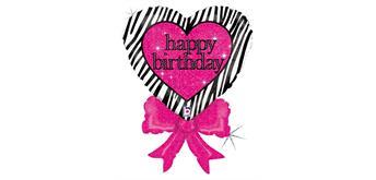 betallic - Folienballon Happy Birthday Herz 76 cm