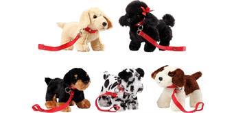 Bohl Plüschwaren - Hunde an der Leine assortiert