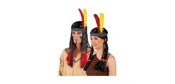 Boland Stirnband Indianer mit Federn